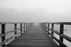 Footbridge in Fog