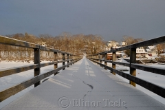 Footbridge Under Snow