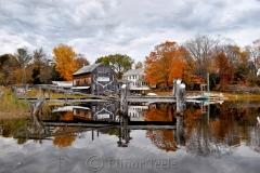 Burnham Boat Building in Autumn
