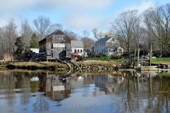 Burnham Boat Building in Spring