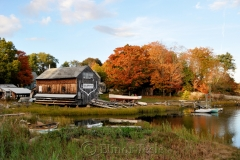 Burnham Boat Building in October
