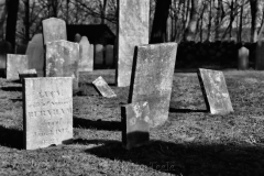 Old Graveyard in Black & White