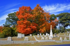 Cemetery in October 1