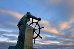 Man at the Wheel in December
