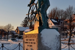 Man at the Wheel in Snow 2