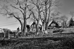 Bay View Cemetery in Black & White