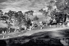 Bay View Cemetery in October