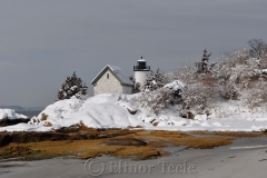 Lighthouse in Snow