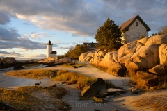 Lighthouse & Rocks in October