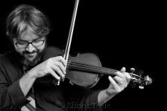 Violinist Black & White 1
