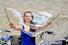 Street Performer in Salzburg
