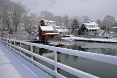 Brown House & Bridge in February