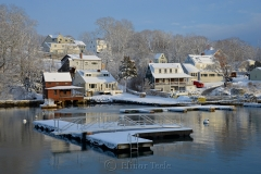 Dock & Brown House in February