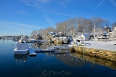 Harbor in February Snows