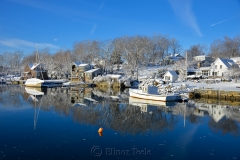 Harbor & Boats in February Snows
