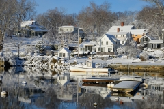Harbor Reflections in February Snows