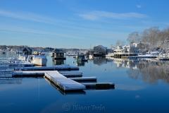 Blue Harbor in February Snows