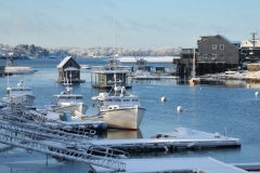 Boats & Harbor in March Snows