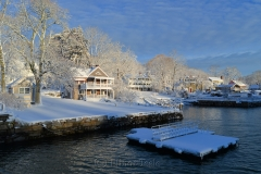 Dock in March Snows