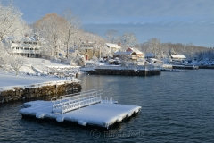 Cove & Dock in March Snows