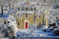House in March Snows