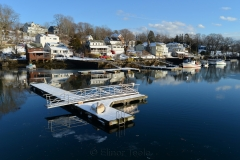 Harbor Docks in Melting Snow