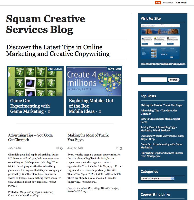 Squam Creative Services Copywriting Blog