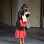 Woman Texting in San Francisco