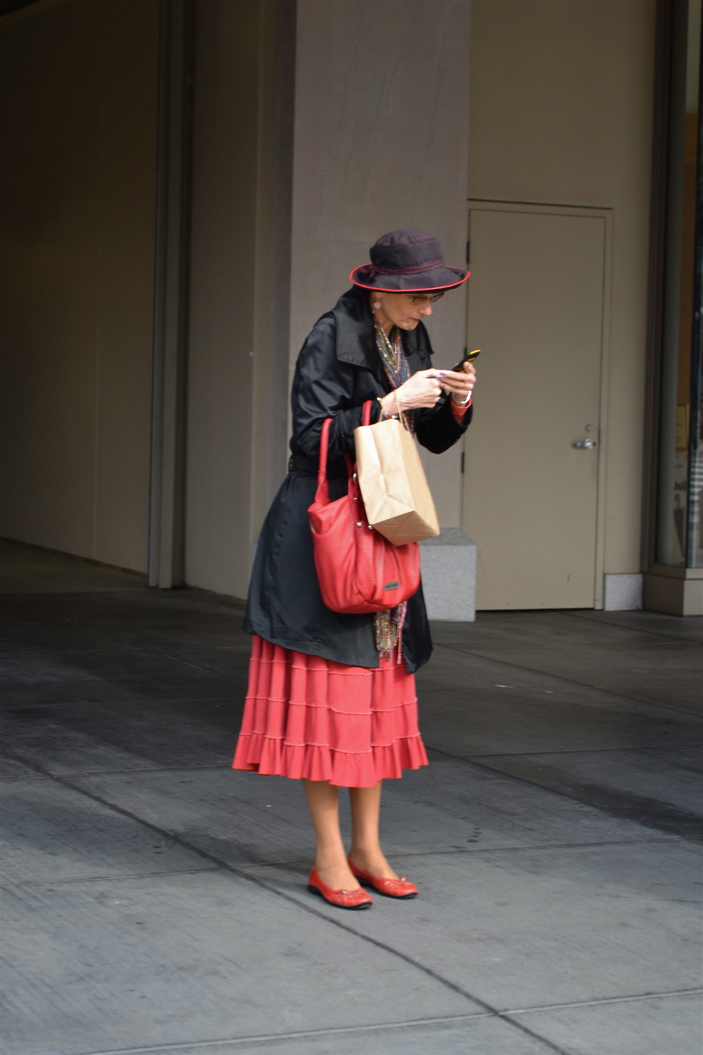 Woman Texting in San Francisco