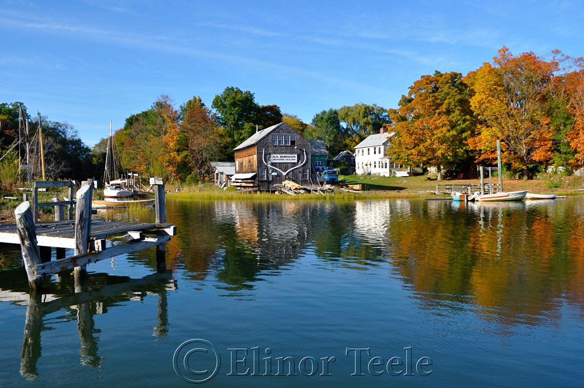 Burnham Boat Building in Fall, Essex MA