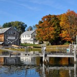 Burnham Boat Building in Fall, Essex MA