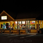 Dunkin Donuts, Gloucester at Night