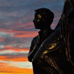 Fishermen's Wives Memorial at Sunset, Gloucester MA