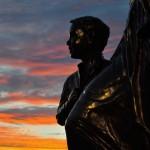 Fishermen's Wives Memorial at Sunset, Gloucester MA