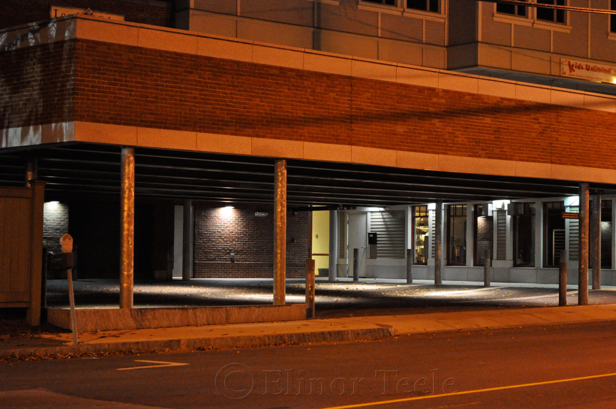 Rogers Street Garage, Gloucester at Night