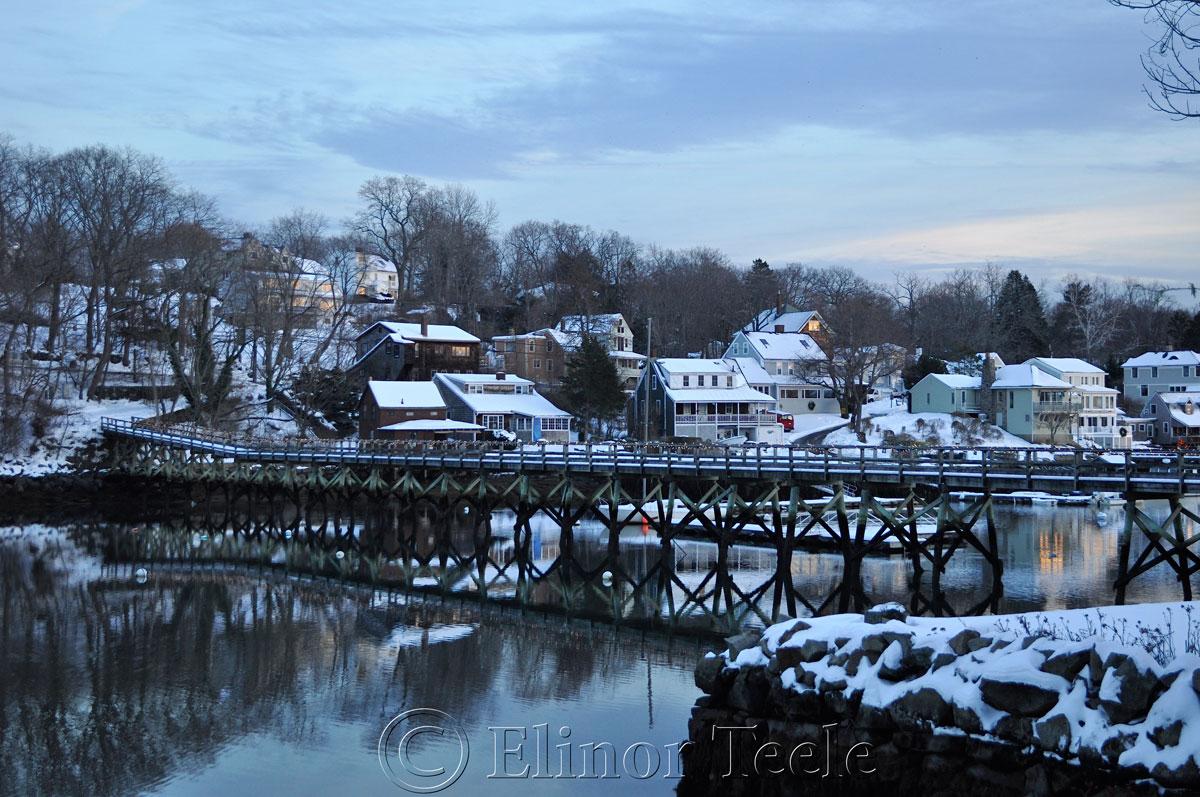 Bridge, Annisquam in the Snow