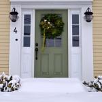 Green Door, Annisquam in the Snow