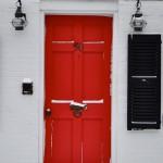 Red Door, Annisquam in the Snow