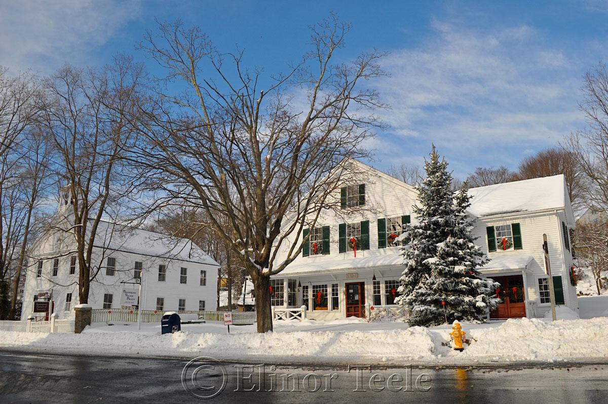 Village Hall, Annisquam in the Snow