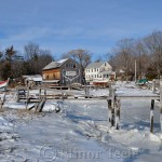 Burnham Boat Building - Iced Up, Essex MA