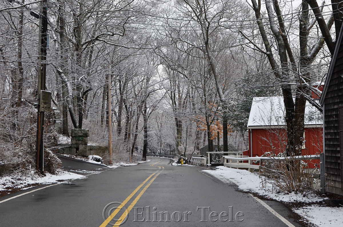 Walnut Street, Annisquam in the Snow