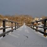 Annisquam Footbridge in the Snow