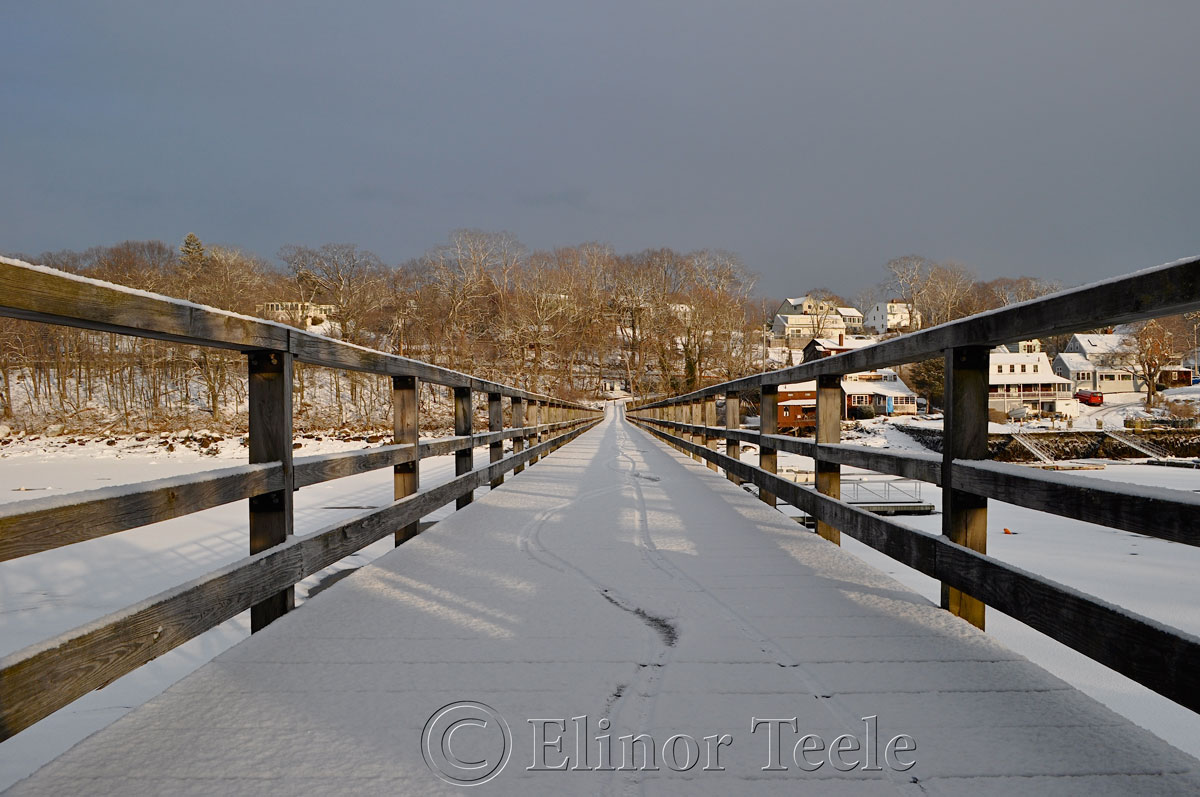 Annisquam Footbridge in the Snow