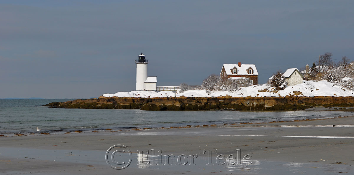 Annisquam Lighthouse in the Snow 2