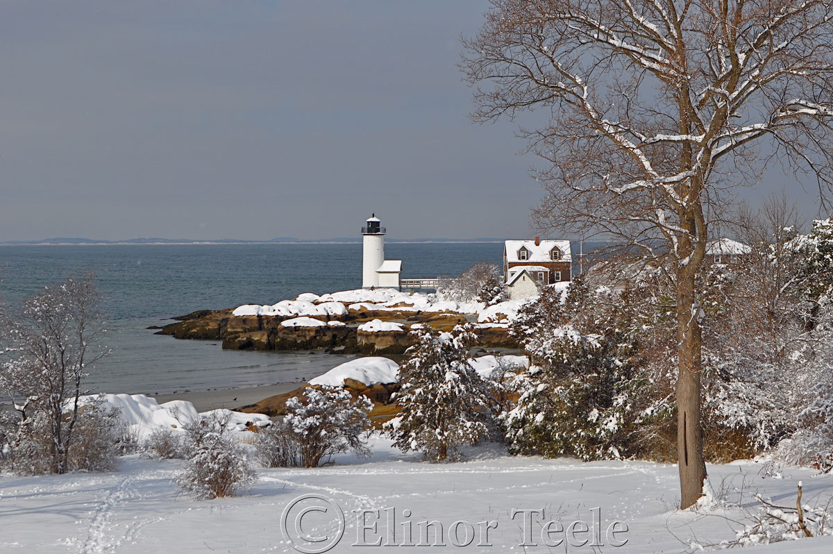 Annisquam Lighthouse in the Snow