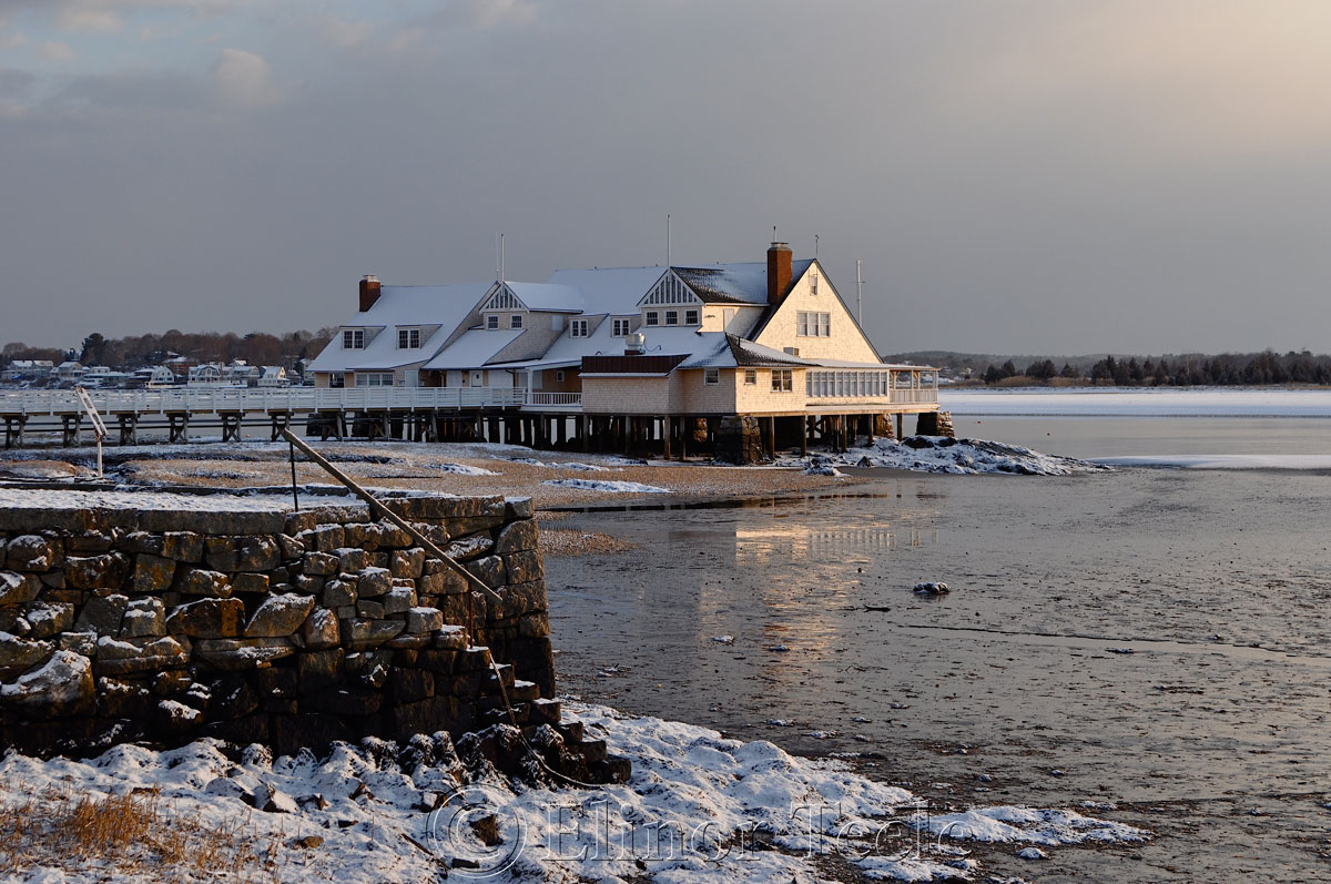 Annisquam Yacht Club in the Snow