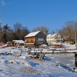 Burnham Boat Building, February Snow, Essex MA