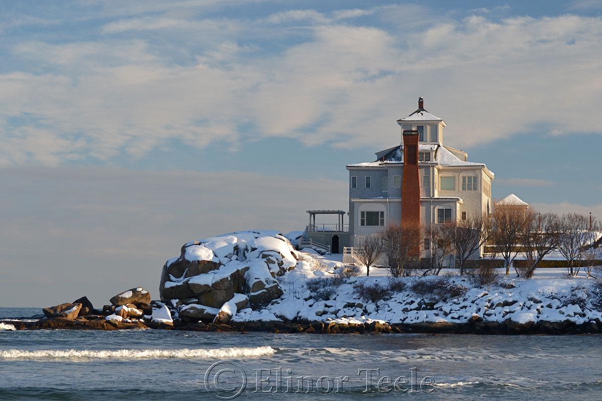 Good Harbor Beach House in the Snow, Gloucester MA