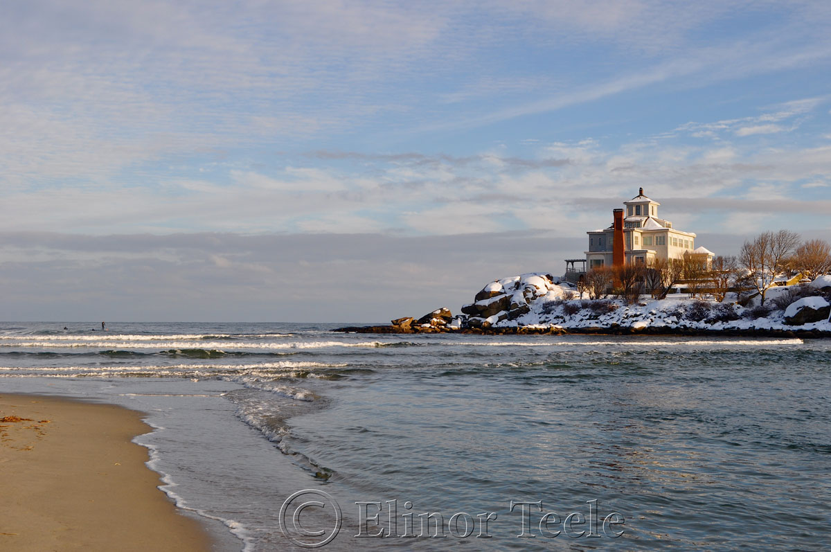 Good Harbor Beach House in the Snow, Gloucester MA