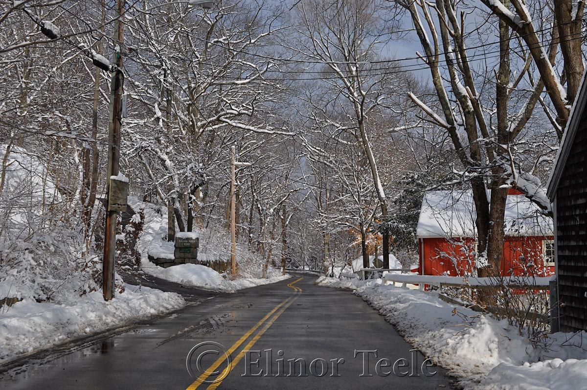 Walnut Street in the Snow, Annisquam MA